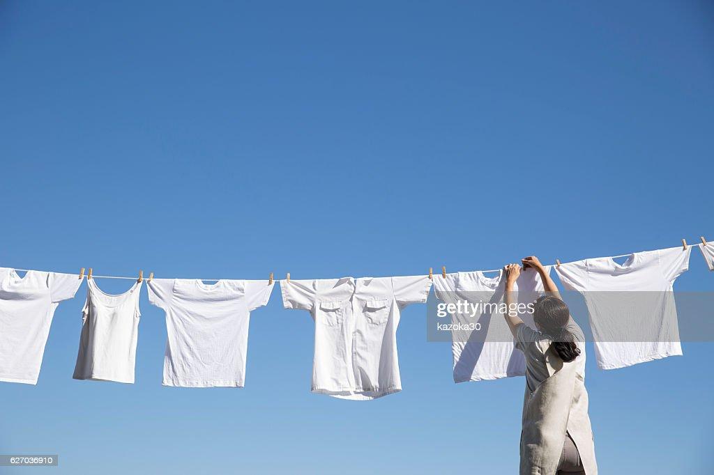 Laundry clothes : Stock Photo