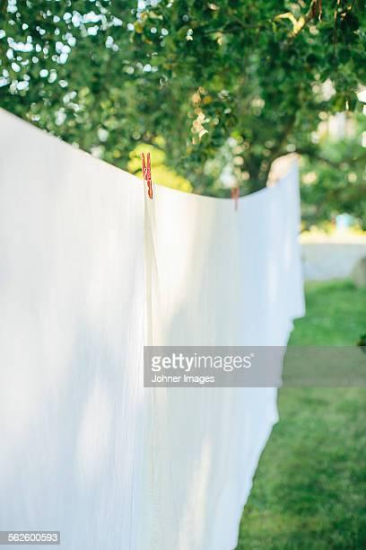 Laundry hanging in garden