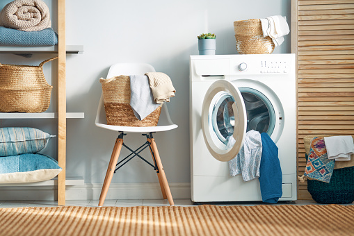 laundry room with a washing machine 1134696879