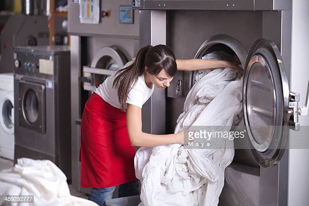 laundry service. - commercial cleaning stock photos and pictures