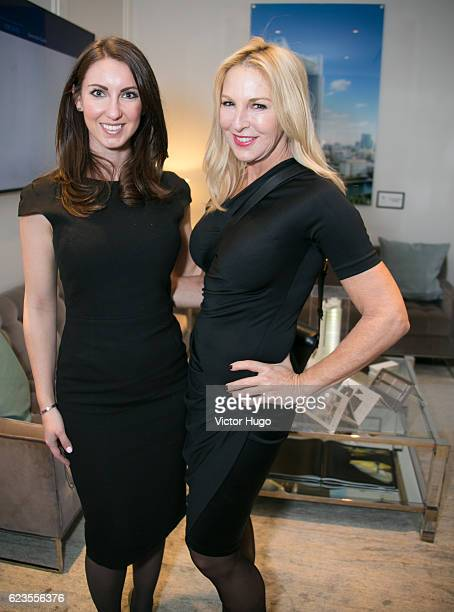 Laura Acker Sissy De Maria attend Preview of One River Point by Rafael Vinoly at 980 Madison Avenue on November 15 2016 in New York City