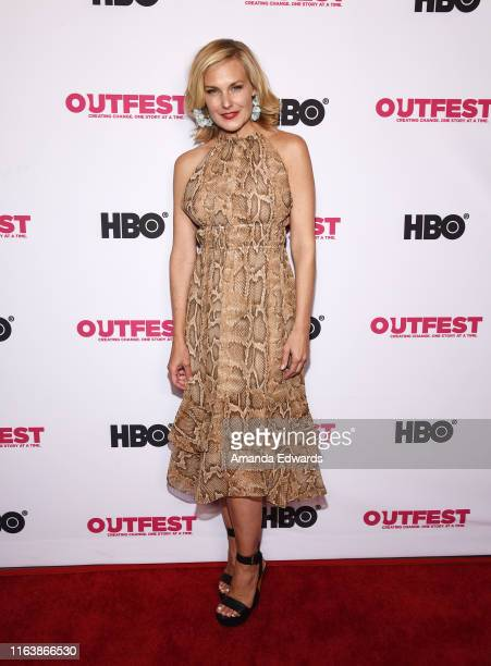 Laura Allen arrives at the 2019 Outfest Los Angeles LGBTQ Film Festival World Premiere of HAM A Musical Memoir at TCL Chinese Theatre on July 23 2019...