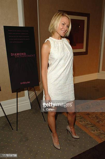 Laura Allen during Diamond Information Center and InStyle Host 6th Annual Awards Season Diamond Fashion Show Preview at Beverly Hills Hotel in...