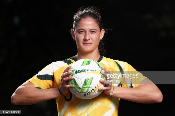 Laura Alleway poses during the Australian Matildas FIFA World Cup Squad announcement at Mrs Macquarie's Chair on May 14 2019 in Sydney Australia