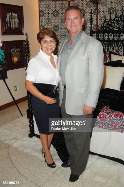 Laura Alvarez and Marcus Fontain attend FRETTE Beverly Hills Designer Event at FRETTE on September 10 2009 in Beverly Hills California