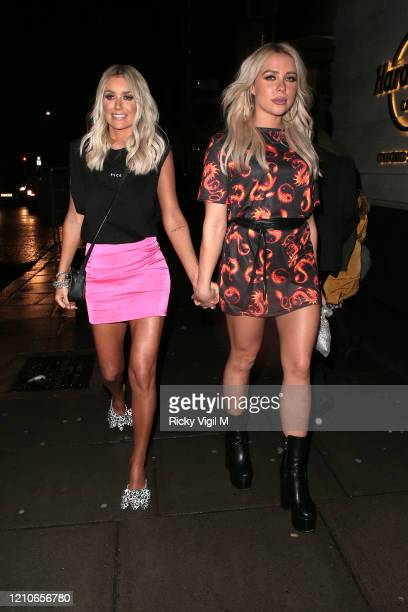 Laura Anderson and Gabby Allen are seen attending the launch of Sam Bird's new single in London's Hard Rock Hotel on March 05, 2020 in London,...