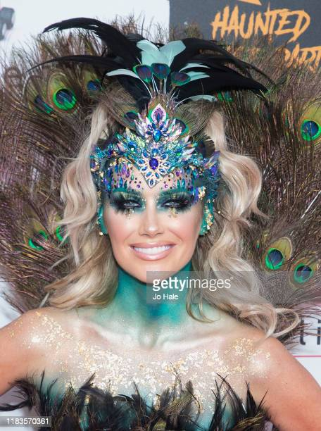 Laura Anderson attends the KISS Haunted House Party 2019 at The SSE Arena Wembley on October 25 2019 in London England