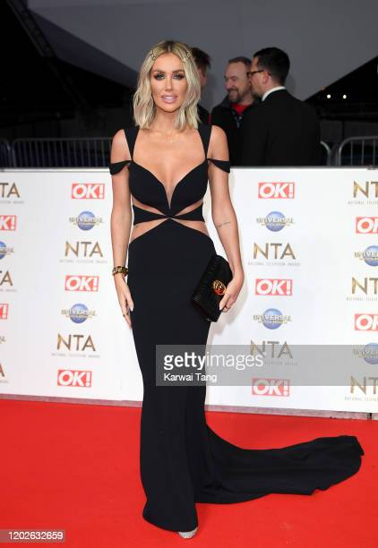 Laura Anderson attends the National Television Awards 2020 at The O2 Arena on January 28, 2020 in London, England.
