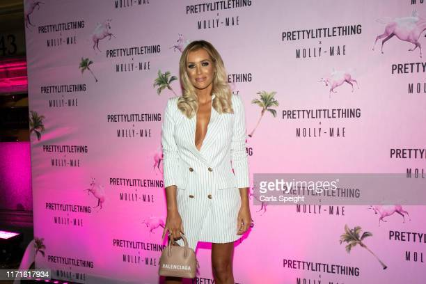 Laura Anderson attends the Pretty Little Thing X MollyMae party at Rosso on September 01 2019 in Manchester England