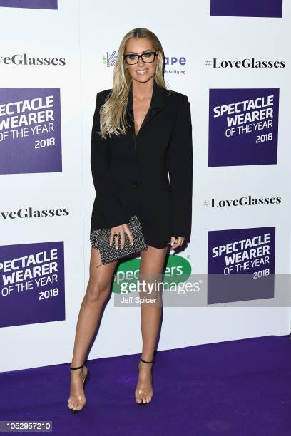 Laura Anderson attends the Specsavers 'Spectacle Wearer Of The Year' at 8 Northumberland Avenue on October 24 2018 in London United Kingdom