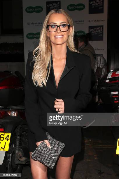 Laura Anderson seen attending Spectacle Wearer of the Year Awards on October 24 2018 in London England