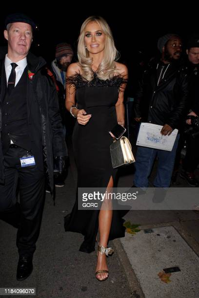 Laura Anderson seen leaving the Pride of Britain Awards at the Grosvenor hotel in Mayfair on October 28 2019 in London England