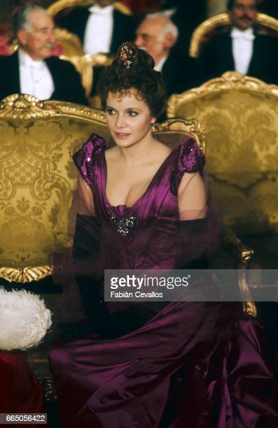 Laura Antonelli acting in the 1976 Italian movie L'Innocente director Luchino Visconti's last film based on an 1892 novel by Gabriele D'Annunzio The...