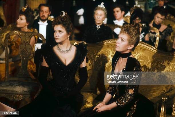 Laura Antonelli and Marie Dubois acting in the 1976 Italian movie L'Innocente , director Luchino Visconti's last film, based on an 1892 novel by...