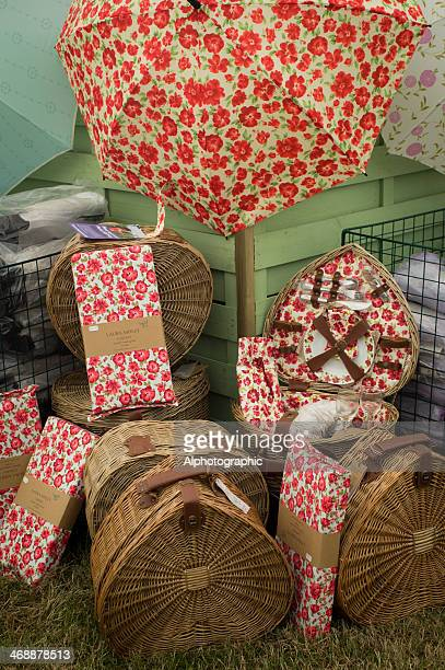 laura ashley umbrellas and baskets - laura ashley stock pictures, royalty-free photos & images