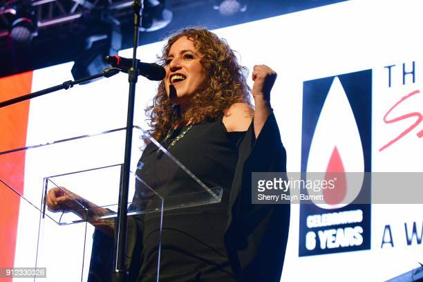 Laura B. Whitmore, producer, speaks at 2018 NAMM She Rocks Awards held at The Anaheim House Of Blues on January 26, 2018 in Anaheim, CA.