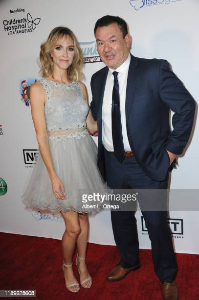 Laura Baggett and Patrick Gallagher arrive for the 4th Annual Holiday Gala To Benefit Children's Hospital Los Angeles held at The Study on December...