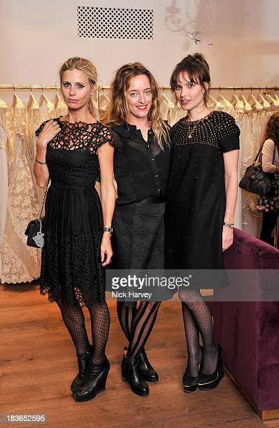 Laura Bailey Alice Temperley and Sheherazade Goldsmith attend Temperley Store Relaunch Party for the Colville Mews Boutique hosted by Alice Temperley...