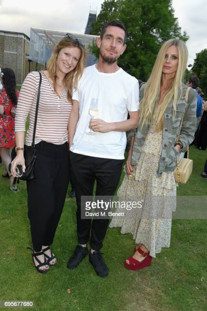 Laura Bailey Amy Gadney and guest attend the Dulwich Picture Gallery Summer Party at Dulwich Picture Gallery on June 13 2017 in London England