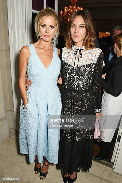 Laura Bailey and Alexa Chung attend the London Fashion Week party hosted by Ambassador Matthew Barzun and Mrs Brooke Brown Barzun with Alexandra...
