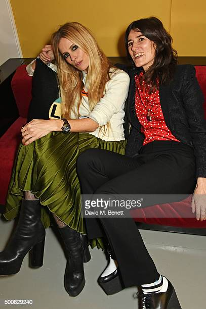 Laura Bailey and Bella Freud attend the Bella Freud store launch in Marylebone on December 9 2015 in London England