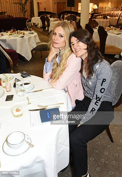 Laura Bailey and Bella Freud attend the Hoping Breakfast for Palestinian refugee children at Harrods on February 9 2016 in London England