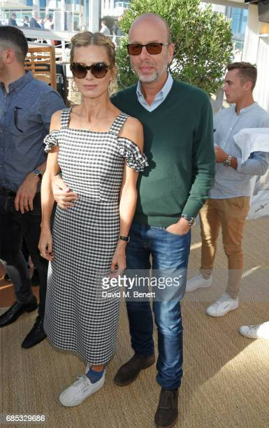 Laura Bailey and Eric Fellner attend Focus Features' 15th Anniversary party at the Cannes Film Festival at Baoli Beach on May 19 2017 in Cannes France