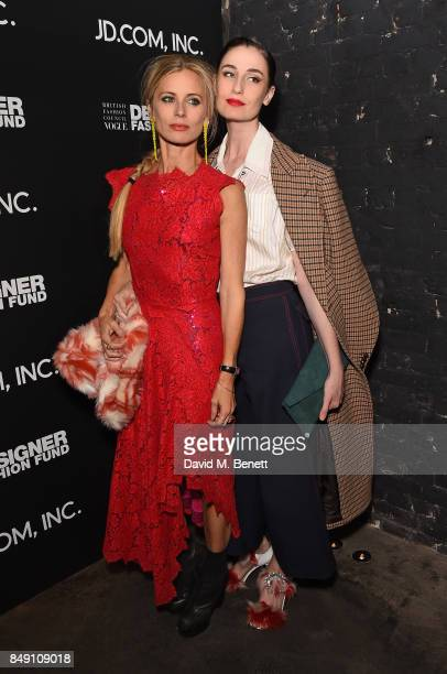 Laura Bailey and Erin O'Connor attend the BFC Vogue Fashion Fund and JDCOM cocktail party hosted by Caroline Rush and Xia Ding at the Mandrake Hotel...