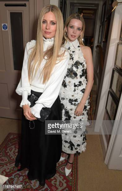 Laura Bailey and Greta Bellamacina attend the Charles Finch CHANEL PreBAFTA Party at 5 Hertford Street on February 1 2020 in London England