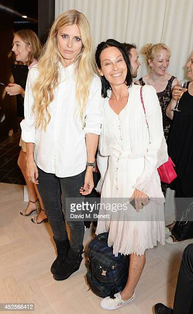 Laura Bailey and Lady Amanda Harlech attend the launch of the Bella Freud Parfum frangrance at Harvey Nichols on July 23 2014 in London England