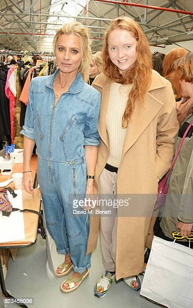 Laura Bailey and Lily Cole attend the #SheInspiresMe Car Boot Sale presented by The Store and Brewer Street Car Park in aid of Women for Women...