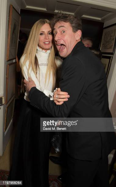 Laura Bailey and Tim Bevan attend the Charles Finch CHANEL PreBAFTA Party at 5 Hertford Street on February 1 2020 in London England