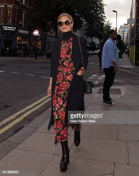 Laura Bailey at the London Edition hotel on June 20 2016 in London England