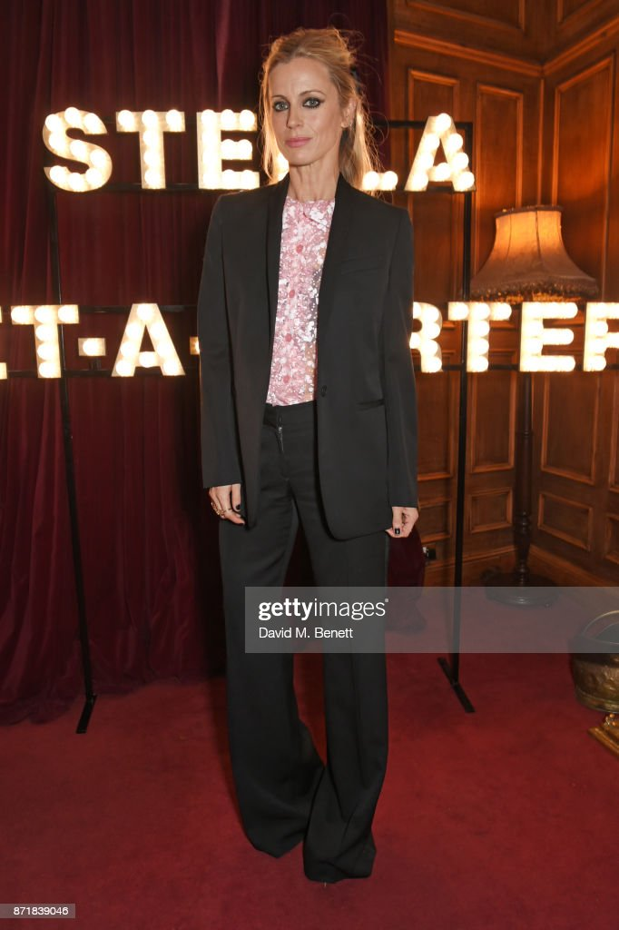 Laura Bailey attends a private dinner hosted by NET-A-PORTER and Stella McCartney to celebrate the launch of the Stella McCartney x NET-A-PORTER party capsule collection on November 8, 2017 in London, England.
