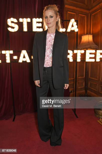 Laura Bailey attends a private dinner hosted by NETAPORTER and Stella McCartney to celebrate the launch of the Stella McCartney x NETAPORTER party...