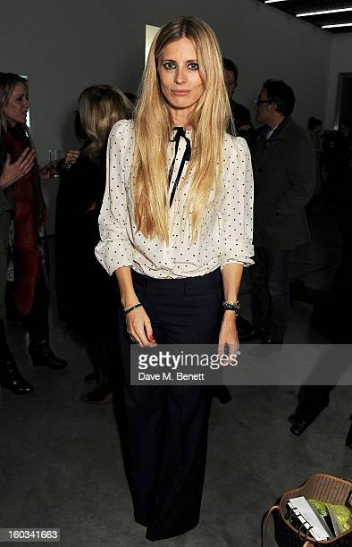 Laura Bailey attends a screening of 'Je T'Ecoute' hosted by Laura Bailey and Bella Freud at White Cube Bermondsey on January 29 2013 in London England