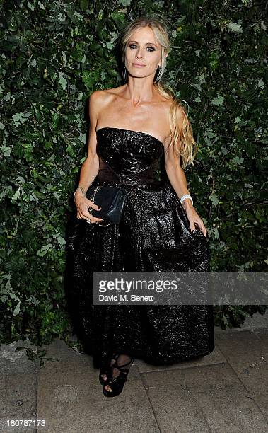 Laura Bailey attends an evening to celebrate The Global Fund hosted by the Earl and Countess of Mornington Anna Wintour Livia Firth and Natalie...