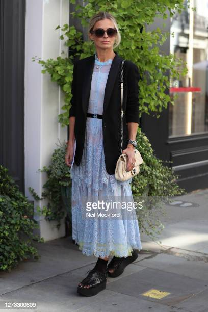 Laura Bailey attends BORA AKSU at St Paul's Church Covent Garden during London Fashion Week September 2020 on September 18 2020 in London England