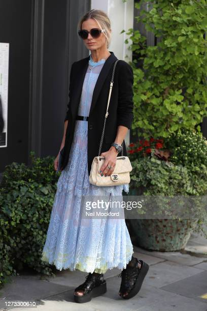 Laura Bailey attends BORA AKSU at St Paul's Church, Covent Garden during London Fashion Week September 2020 on September 18, 2020 in London, England.