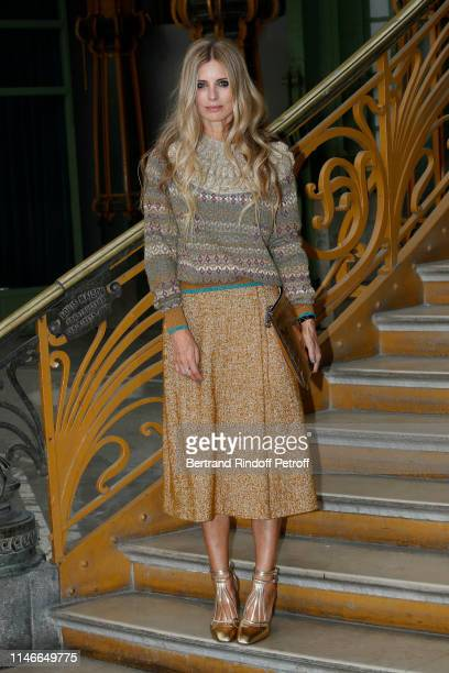 Laura Bailey attends the Chanel Cruise Collection 2020 : Front Row at Le Grand Palais on May 03, 2019 in Paris, France.