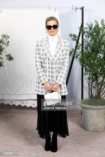 Laura Bailey attends the Chanel Haute Couture Spring/Summer 2020 show as part of Paris Fashion Week at Grand Palais on January 21 2020 in Paris France