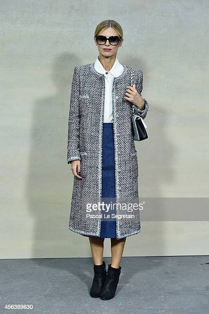 Laura Bailey attends the Chanel show as part of the Paris Fashion Week Womenswear Spring/Summer 2015 on September 30 2014 in Paris France
