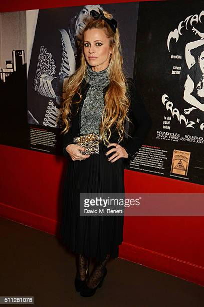 Laura Bailey attends the Charlotte Olympia Fall 16 catwalk show at The Roundhouse on February 19 2016 in London England