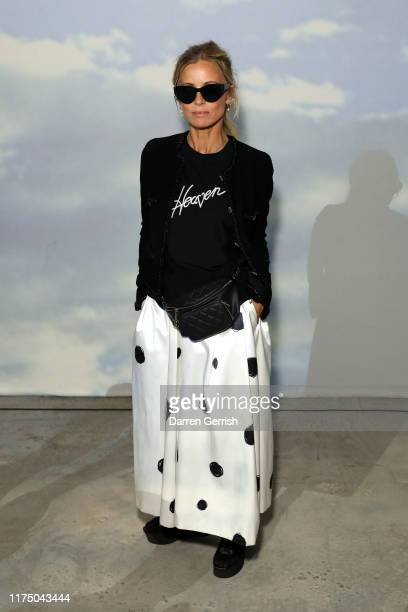 Laura Bailey attends the Christopher Kane show during London Fashion Week September 2019 on September 16 2019 in London England