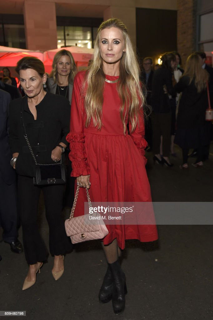 Laura Bailey attends the Conde Nast Traveller 20th anniversary party at Vogue House on October 9, 2017 in London, England.