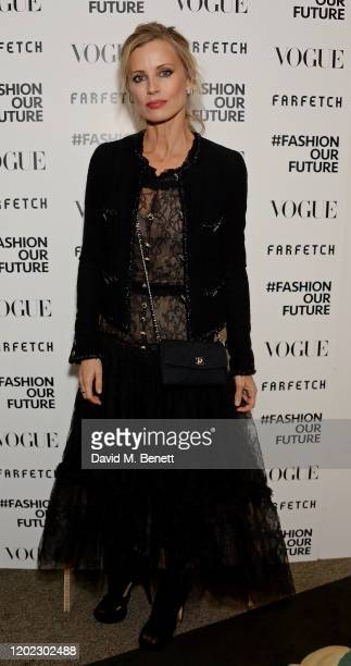 Laura Bailey attends the Fashion Our Future launch event at Claridge's Hotel on February 17 2020 in London England #FASHIONOURFUTURE is a social...