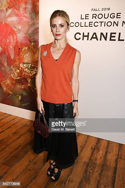 Laura Bailey attends the launch of Lucia Pica's makeup collection for Chanel at Somerset House on June 23 2016 in London England