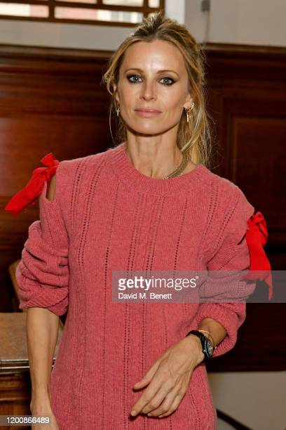 Laura Bailey attends the Molly Goddard front row during London Fashion Week February 2020 at Central Hall Westminster on February 15 2020 in London...