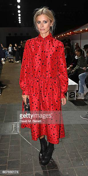 Laura Bailey attends the Molly Goddard runway show during London Fashion Week Spring/Summer collections 2017 on September 17 2016 in London United...