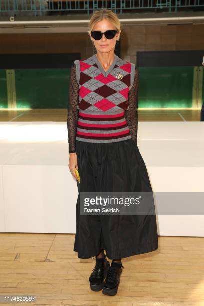 Laura Bailey attends the Molly Goddard show during London Fashion Week September 2019 on September 14, 2019 in London, England.